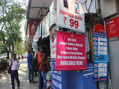 【airtel・Vodafone】ムンバイでSIMカードを買えるお店の紹介