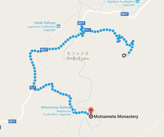クタイシ郊外の観光